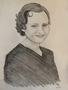Drawing of Grandma Larson
