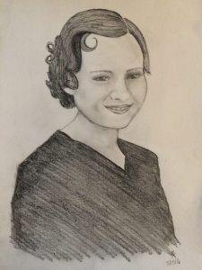 Drawing of Grandma Larson